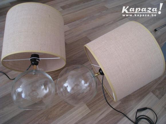 2 Vintage Italiaans Design Glaslamp 60s