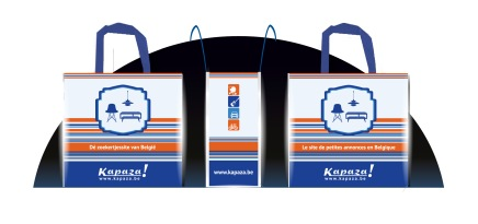 Refllective shopping bag presentation Kapaza