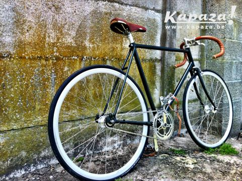 Retro fiets Brooks