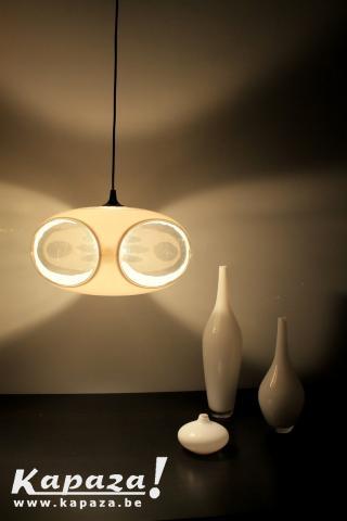 White vintage UFO lampe by Luigi Colani Space Age