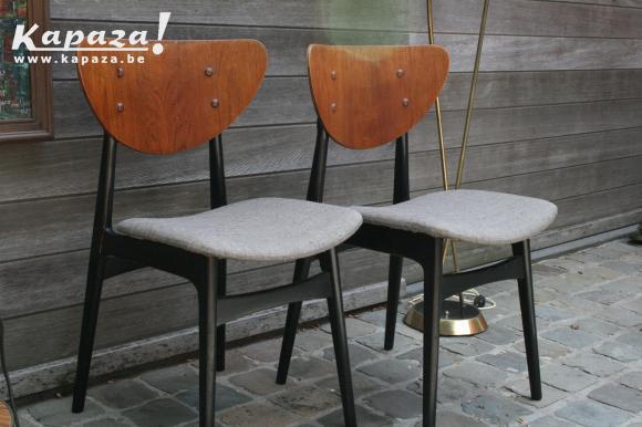 stoelen, vintage, scandinavië, design, jaren 50