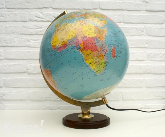 Vintage grote Michelin wereldbol (Globe) Uniek