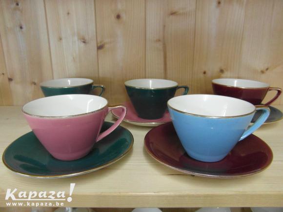 5 sets à café Boch Expo 58 Pastel Vintage