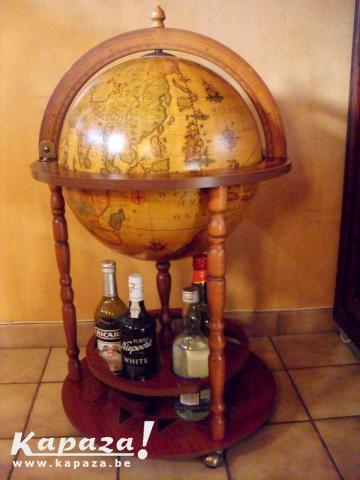Wereldbol bar globe drankkast