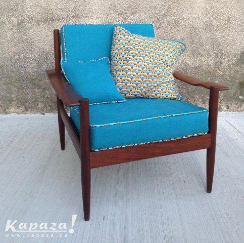Schitterende vintage Scandinavische fauteuil